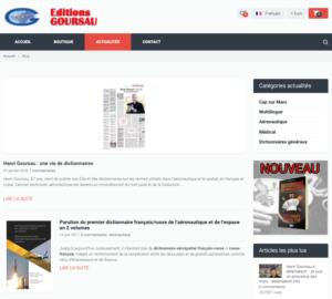 Site Web Editions Goursau